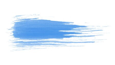 Vector hand drawn watercolor brush stain. Colorful painted stroke. Blue color artistic tender background