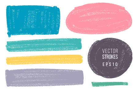 Vector hand drawn various geometric shapes set for backdrops. Colorful artistic hand drawn backgrounds.