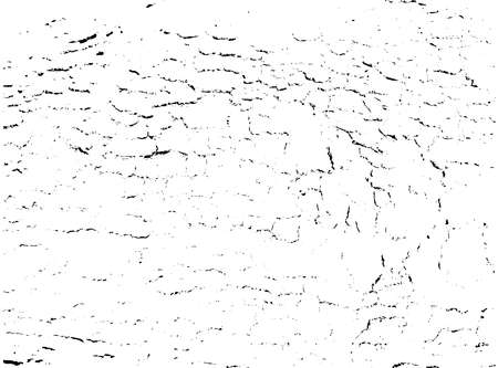 Distressed overlay texture of rough surface, cracked wood, tree bark. Grunge background. one color graphic resource. Illusztráció