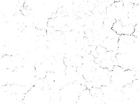 Natural cracks background. Vector overlay texture of cracked surface. One color graphic resource. Ilustración de vector