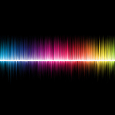 multi coloured: A background design of music soundwaves,multicoloured Stock Photo
