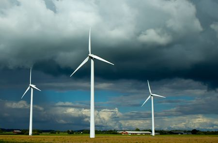 Clouded Wind Power Stock Photo - 7256933