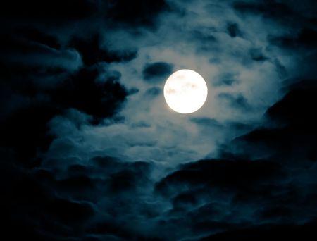 full moon romantic night: Full Moon Stock Photo