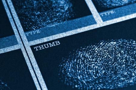 Thumb Fingerprint File photo