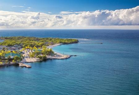 Photograph of the coast of Honduras island Roatan photo