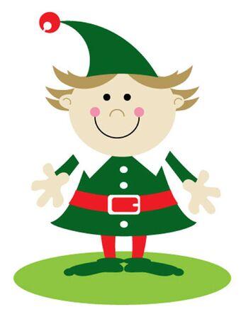 산타의 작은 도우미 소녀 엘프