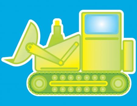 Toy Steam Shovel Stock Illustratie