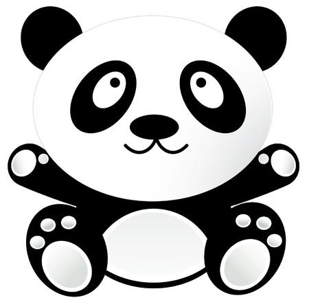 funny baby: Baby Panda Illustration