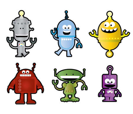 Whimsical Robots Stock Vector - 18985683