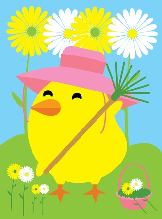 Garden Chick Ilustrace