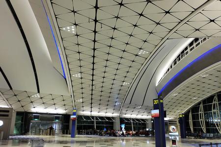 incidental people: Hong Kong International Airport.