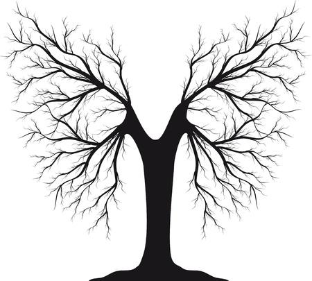 kale: Zwarte silhouet van een boom zonder bladeren