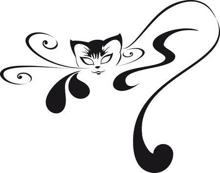 Home glamorous kitten. For your logo