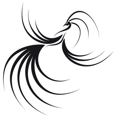 ave fenix: Phoenix con una hermosas alas y cola de imagen se puede utilizar como un logotipo