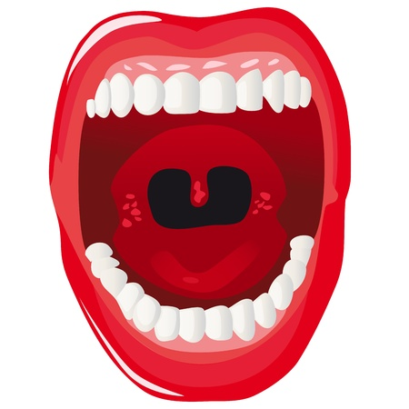 mouth  open: Anatomy of the human mouth