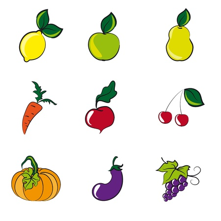 fruits, vegetables Stock Vector - 13578802