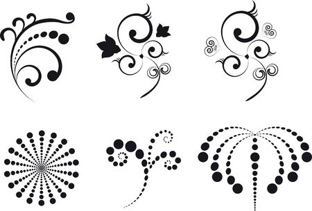 Design elements black, patterns for combining Stock Vector - 13578826