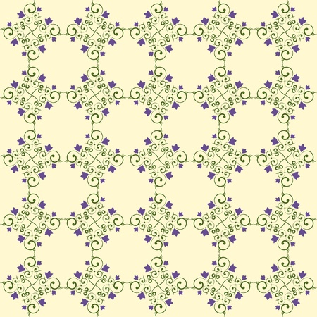 Background wallpaper with a delicate floral pattern in cool shades Stock Vector - 13578809