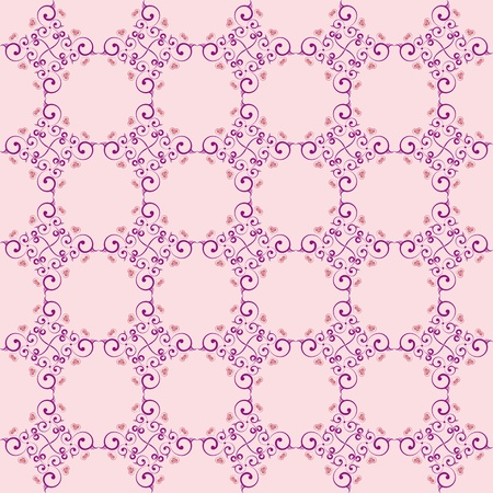 Background wallpaper delicate purple with love patterns Stock Vector - 13578812