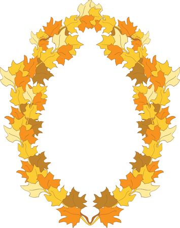 Frame is formed from maple leaves Stock Vector - 13718590