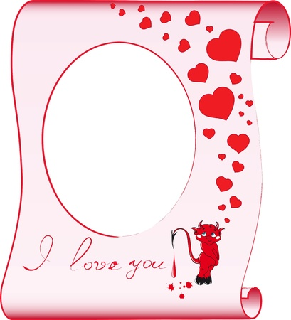 The template for photos with the image of a lover devil Stock Vector - 13718586
