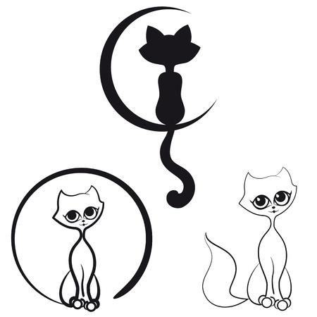 my dear: Una serie di gatti di contorno per il vostro logo