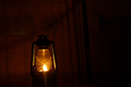 naphtha: Old oil lamp