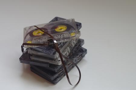 cassettes: Audio cassettes Stock Photo