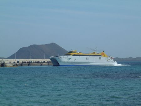 departing: Passenger Ferry coming into port, Canary Islands