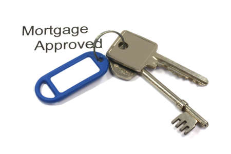 House keys mortgage approved isoalted macro photo