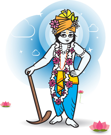 rama: Lord Shri Balaram - vector illustration. Indian culture.