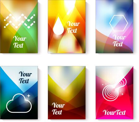 colorfull: Set of business of flyer cards with abstract colorfull backgrounds