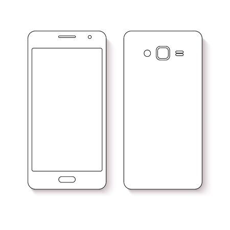 mobile phone icon: Mobile phone icon. Flat design of mobile phone.
