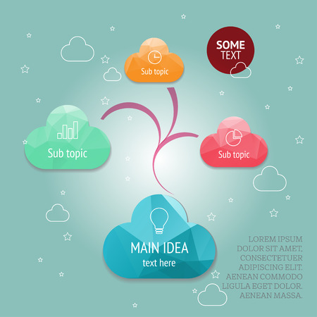 mindmap: Vector mindmap concept template for your content