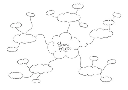 mindmap: Hand drawn black and white mindmap design