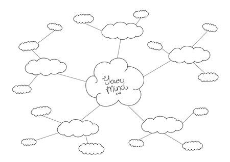 Hand drawn black and white mindmap design