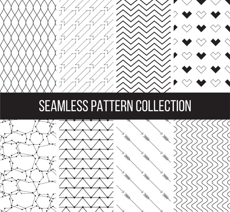 graphic elements: Geometric black and white textures can be used for print, wallpaper, web page background, surface design, textile, fashion, cards.