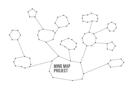 costellazioni: Costellazioni mindmap schemi concetto. Utile per il tuo sito o la presentazione. colori bianco e nero.