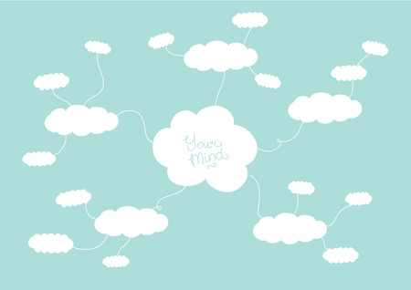 mindmap: Mindmap design concept with clouds and space for your content Illustration