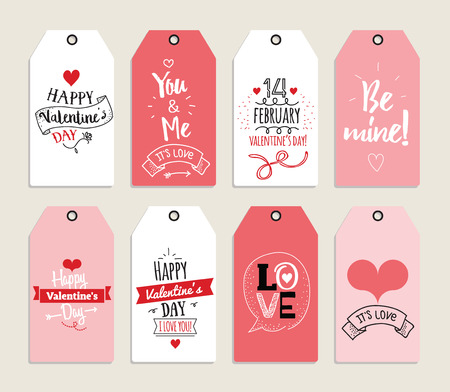 romantic date: Template for Greeting Scrapbooking, journaling and any creative card. Labels.