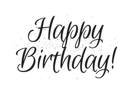 Happy Birthday Inschrift Grußkarte Mit Kalligraphie Hand