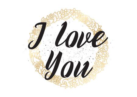 of the inscription: I love you romantic inscription.