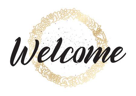 inscripción de bienvenida. Ilustración de vector
