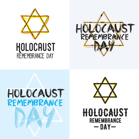 holocaust: Holocaust remembrance day typography set.