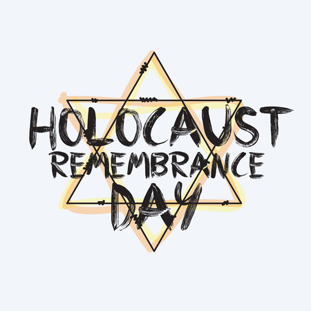 holocaust: Holocaust remembrance day typography