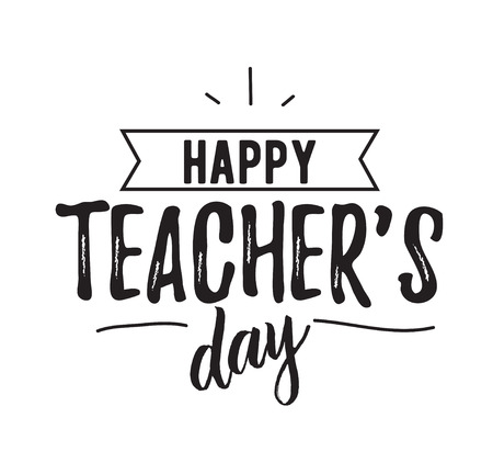 Happy teachers day vector typography. Stock Illustratie