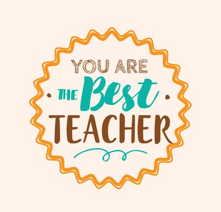 Teachers day vector typography.
