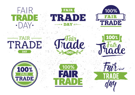 fair trade: International fair trade day. Vector typography design. Usable for cards, logo, print or web.