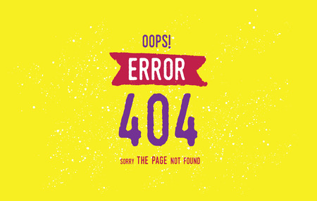 page not found: 404 error web page. Background vector design. Page not found. Template with typography.