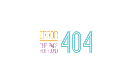 disconnection: 404 error web page. Background vector design. Page not found. Template with typography.